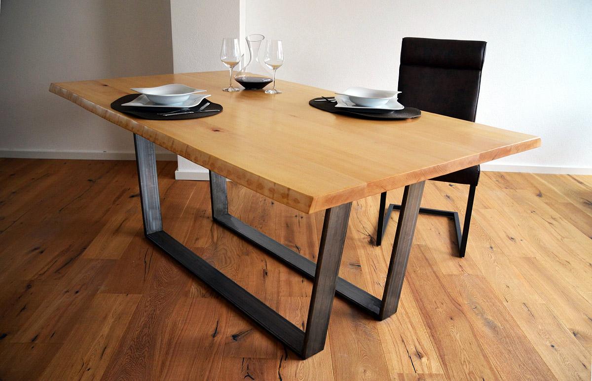 massivholz esstisch wien eiche oder buche. Black Bedroom Furniture Sets. Home Design Ideas