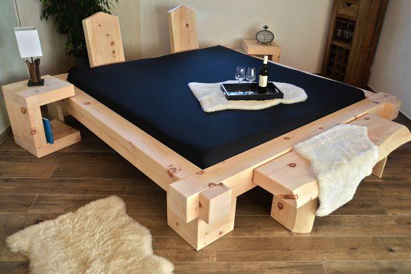 Balkenbett Großglockner aus Zirbenholz